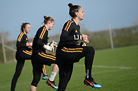 20190226 - LARNACA , CYPRUS :  Belgian goalkeeper Nicky Evrard pictured during a Matchday -1 training from The Belgian Red Flames prior to their game against the women team of Slovakia , on Tuesday 26 February 2019 at the Alpha Sports Grounds in Larnaca , Cyprus . This will be the first game in group C for Belgium during the Cyprus Womens Cup 2019 , a prestigious women soccer tournament as a preparation on the European Championship 2021 qualification duels. PHOTO SPORTPIX.BE | STIJN AUDOOREN