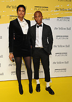 BROOKLYN, NY - SEPTEMBER 10: Helen Lasichanh and Pharrell Williams at The Yellow Ball at The Brooklyn Museum in New York City on September 10, 2018. <br /> CAP/MPI99<br /> &copy;MPI99/Capital Pictures