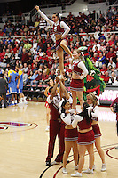 STANFORD, CA - JANUARY 9:  Cheerleaders of the Stanford Cardinal during Stanford's 70-59 win over the UCLA Bruins on January 9, 2009 at Maples Pavilion in Stanford, California.