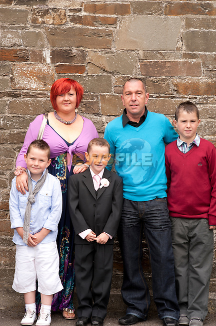 Ben Snaith with Mam Chanel Dad Trevor and brothers Jack and Finn.Picture: Sinead O'Neill / www.newsfile.ie.