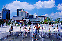 Kids playing in fountain, Louisville Waterfront Park, Louisville, Kentucky