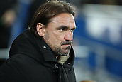1st December 2017, Cardiff City Stadium, Cardiff, Wales; EFL Championship Football, Cardiff City versus Norwich City; Daniel Farke, Manager of Norwich City watches his team get ready