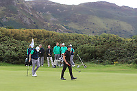 Ronan Mullarney from Ireland at the 17th green during Round 2 Singles of the Men's Home Internationals 2018 at Conwy Golf Club, Conwy, Wales on Thursday 13th September 2018.<br /> Picture: Thos Caffrey / Golffile<br /> <br /> All photo usage must carry mandatory copyright credit (&copy; Golffile | Thos Caffrey)
