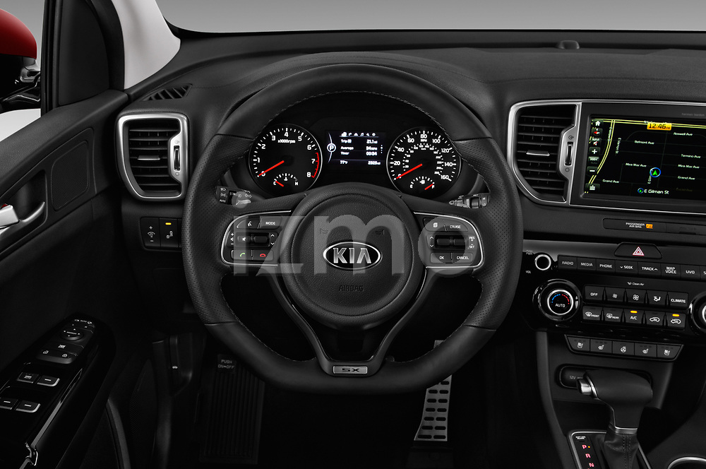 Car pictures of steering wheel view of a 2019 KIA Sportage SX Turbo 5 Door SUV