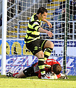08/11/2009  Copyright  Pic : James Stewart.sct_jspa42_falkirk_v_celtic  . :: FALKIRK'S HEROIC KEEPER ROBERT OLEJNIK MAKES ANOTHER SAVE AT THE FEET OF SCOTT MCDONALD :: .James Stewart Photography 19 Carronlea Drive, Falkirk. FK2 8DN      Vat Reg No. 607 6932 25.Telephone      : +44 (0)1324 570291 .Mobile              : +44 (0)7721 416997.E-mail  :  jim@jspa.co.uk.If you require further information then contact Jim Stewart on any of the numbers above.........