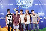 Music band Auryn pose during `Atrapa la bandera´ film presentation in Madrid, Spain. August 26, 2015. (ALTERPHOTOS/Victor Blanco)