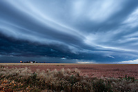 Shelf cloud in Slaton, TX