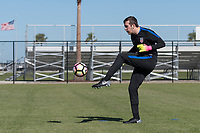 Lakewood Ranch, FL - Sunday Jan. 07, 2018: Alex Budnik during an U-19 USMNT training session at Premier Sports Campus in Lakewood Ranch, FL.