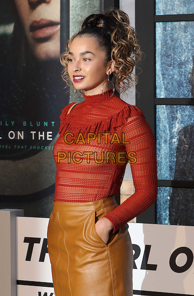 Ella Eyre at The Girl on the Train - world film premiere at the Odeon Leicester Square. London on September 20th 2016<br /> CAP/ROS<br /> &copy;Steve Ross/Capital Pictures