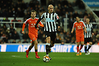 Jonjo Shelvey of Newcastle United during Newcastle United vs Luton Town, Emirates FA Cup Football at St. James' Park on 6th January 2018