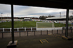 A view of Victory Park, before Chorley played Altrincham in a Vanarama National League North fixture. Chorley were founded in 1883 and moved into their present ground in 1920. The match was won by the home team by 2-0, watched by an above-average attendance of 1127.