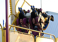 Keeping up with the Kardashians: Kris Jenner treated her daughter Kylie and a bunch of friends with a trip to the Orange County Fair in Costa Mesa on a sunny Saturday afternoon. The Jenners were accompanied by Cody_Simpson's sister Alli_Simpson and a whole entourage of bodyguards and production people, who made sure that the outing was caught on film. ..Before the gang headed to the concert of Cody_Simpson on the Fair grounds, Kris grabbed a deep fried sweet treat and some ice cream and throw darts with_Kylie to win a stuffed animal. ..Kylie_and her friend later skipped the line at a thrill ride, which caused a couple of BOOs among the waiting crowd. The duo held hands and screamed from the top of their lungs during the ride but they clearly had a lot of fun! Costa Mesa, California on 21.7.2012..Credit: Kilian/face to face / Mediapunchinc - ***NO PRINT FOR WEEKLY MAGAZINES ONLINE ONLY**** */*NortePhoto*<br />