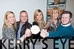 Myra Griffin, Eugene O'Sullivan, Grainne O'Sullivan, Kathrena Breen and Joe Burkett launching the Killarney Strictly Come Dancing show DVD in aid of the Irish Cancer Society in the INEC on Monday night