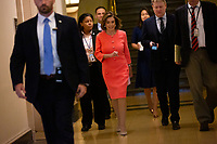 Speaker of the United States House of Representatives Nancy Pelosi (Democrat of California) arrives to the Democratic Caucus on Capitol Hill in Washington D.C., U.S. on June 11, 2019.<br />  <br /> Credit: Stefani Reynolds / CNP/AdMedia