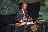 NEW YORK, NEW YORK - SEPTEMBER 20: U.S. President Barack Obama addresses the United Nations General Assembly at UN headquarters, September 20, 2016 in New York City. According to the UN Secretary-General Ban ki-Moon, the most pressing matter to be discussed at the General Assembly is the world's refugee crisis. VIEWpress/Maite H. Mateo
