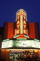 Ann Arbor, MI, Michigan, The State Theatre at night in downtown Ann Arbor.