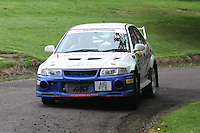 Mike Faulkner / Pete Foy near Junction 10 on the Gleaner Oil & Gas Cooper Park Special Stage 2 of the Gleaner Oil & Gas Speyside Stages Rally 2012, Round 6 of the RAC MSA Scotish Rally Championship which was organised by The 63 Car Club (Elgin) Ltd and based in Elgin on 4.8.12..........