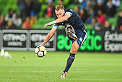 3rd November 2017, Melbourne Rectangular Stadium, Melbourne, Australia; A-League football, Melbourne City FC versus Sydney FC; Jordy Buijs of Sydney FC kicks the ball