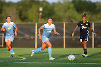 Piscataway, NJ - Saturday Aug. 27, 2016: Danielle Colaprico, Vanessa DiBernardo, Tasha Kai during a regular season National Women's Soccer League (NWSL) match between Sky Blue FC and the Chicago Red Stars at Yurcak Field.