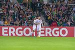 10.08.2019, wohninvest Weserstadion, Bremen, GER, DFB-Pokal, 1. Runde, SV Atlas Delmenhorst vs SV Werder Bremen<br /> <br /> DFB REGULATIONS PROHIBIT ANY USE OF PHOTOGRAPHS AS IMAGE SEQUENCES AND/OR QUASI-VIDEO.<br /> <br /> im Bild / picture shows<br /> <br /> Jubel 1:3 durch Davy Klaassen (Werder Bremen #30) mit Milot Rashica (Werder Bremen #07)<br /> Foto © nordphoto / Kokenge