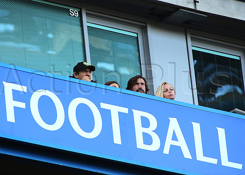 11.12.2016. Stamford Bridge, London, England. Premier League Football. Chelsea versus West Bromwich Albion. Ex Italian Football Star Andrea Pirlo watches the game