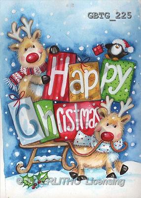 Theresa, CHRISTMAS ANIMALS, paintings(GBTG225,#XA#) Weihnachten, Navidad, illustrations, pinturas