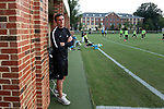ELON, NC - AUGUST 25: Providence Craig Stewart (ENG). The University of North Carolina Tar Heels hosted the Providence College Friars on August 25, 2017 at Rudd Field in Elon, NC in a Division I college soccer game. UNC won the game 4-2.