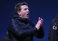Barnsley Manager, Daniel Stendel, celebrates their victory at the final whistle during Gillingham vs Barnsley, Sky Bet EFL League 1 Football at The Medway Priestfield Stadium on 9th February 2019