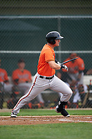 Baltimore Orioles Zach Kapstein (16) during a minor league Spring Training intrasquad game on April 2, 2016 at Buck O'Neil Complex in Sarasota, Florida.  (Mike Janes/Four Seam Images)