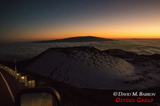 View From Mauna Kea At Dusk