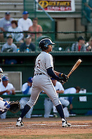 April 28 2010: Daniel Fields (45) of the Lakeland Flying Tigers during a game vs. the Daytona Beach Cubs at Jackie Robinson Ballpark in Daytona Beach, Florida. Daytona, the Florida State League High-A affiliate of the Chicago Cubs, lost the game against Lakeland, affiliate of the Detroit Tigers, by the score of 5-3  Photo By Scott Jontes/Four Seam Images