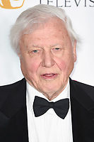 Sir David Attenborough in the winners room for the BAFTA TV Awards 2018 at the Royal Festival Hall, London, UK. <br /> 13 May  2018<br /> Picture: Steve Vas/Featureflash/SilverHub 0208 004 5359 sales@silverhubmedia.com