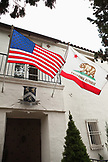 USA, California, Sonoma, the entrance into the Bartholomew Park winery tasting room