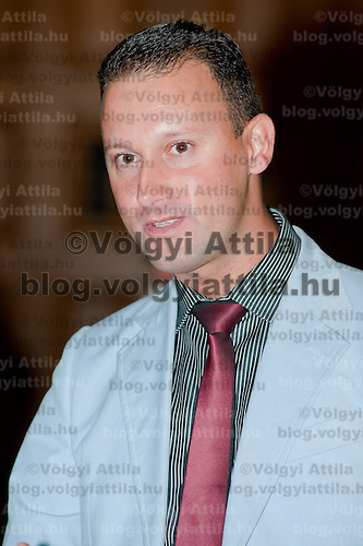 Hungarian celebrity Alekosz known from a reality show attend a party in Budapest, Hungary on August 31, 2011. ATTILA VOLGYI