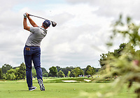 26th July 2020, Blaine, MN, USA;  Michael Thompson tees off on hole number three during the final round of the 3M Open golf tournament at TPC Twin Cities in Blaine, Minnesota