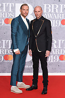 Bros<br /> arriving for the BRIT Awards 2019 at the O2 Arena, London<br /> <br /> ©Ash Knotek  D3482  20/02/2019<br /> <br /> *images for editorial use only*
