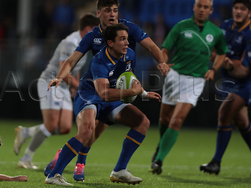 25th August 2017, Donnybrook Stadium, Dublin, Ireland; Pre Season Rugby Friendly; Leinster Rugby versus Bath Rugby; Joey Carbery (Leinster) cuts inside