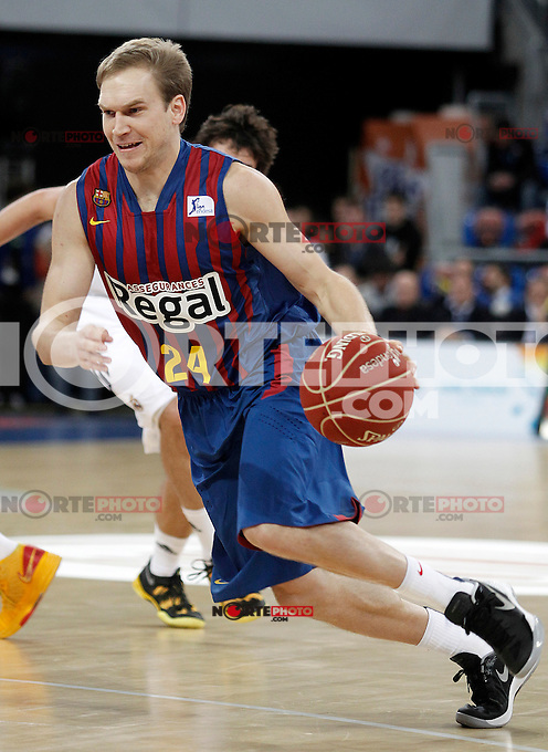 FC Barcelona Regal's Brad Oleson during Spanish Basketball King's Cup match.February 07,2013. (ALTERPHOTOS/Acero) /Nortephoto