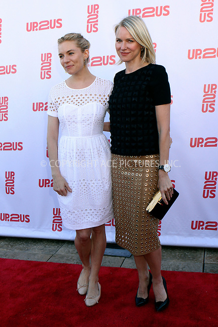WWW.ACEPIXS.COM<br /> <br /> June 4 2013, New York City<br /> <br /> Sienna Miller and Naomi Watts arriving at the 2013 Up2Us Inaugural Gala held at the Tribeca Rooftop on June 4 2013 in New York City<br /> <br /> By Line: Nancy Rivera/ACE Pictures<br /> <br /> <br /> ACE Pictures, Inc.<br /> tel: 646 769 0430<br /> Email: info@acepixs.com<br /> www.acepixs.com