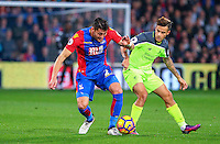 Joel Ward of Crystal Palace and Philippe Coutinho of Liverpool during the EPL - Premier League match between Crystal Palace and Liverpool at Selhurst Park, London, England on 29 October 2016. Photo by Steve McCarthy.