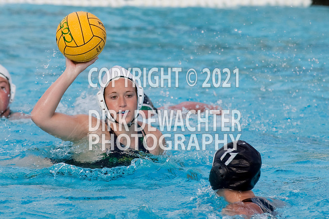 Manhattan Beach, CA 02/16/11 - Jessica Becker (Edison #7) in action during the 2011 first round CIF girls waterpolo playoffs between Edison and Mira Costa.