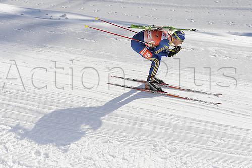09.12.2011, Hochfilzen, Austria. The IBU Biathlon men's 10km Sprint, picture shows  Simon Carl Johan Bergman SWE