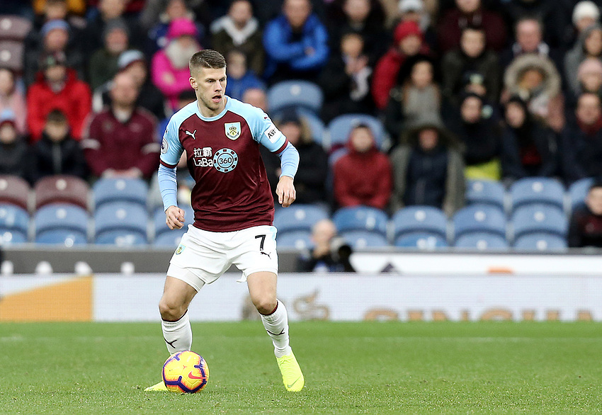Burnley's Johann Gudmundsson<br /> <br /> Photographer Rich Linley/CameraSport<br /> <br /> The Premier League - Burnley v Brighton and Hove Albion - Saturday 8th December 2018 - Turf Moor - Burnley<br /> <br /> World Copyright © 2018 CameraSport. All rights reserved. 43 Linden Ave. Countesthorpe. Leicester. England. LE8 5PG - Tel: +44 (0) 116 277 4147 - admin@camerasport.com - www.camerasport.com