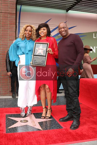 Mary J Blige, Taraji P Henson, John Singleton<br /> at the Taraji P. Henson Star on the Hollywood Walk of Fame, Hollywood, CA 01-28-19<br /> David Edwards/DailyCeleb.com 818-249-4998