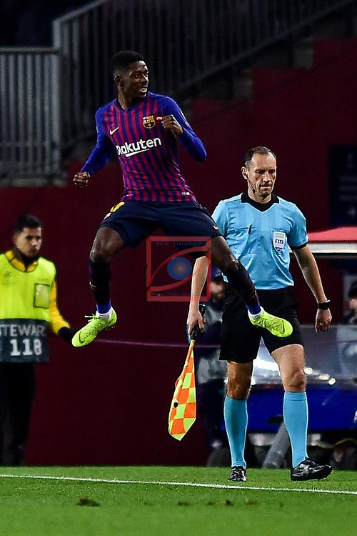 UEFA Champions League 2018/2019 - Matchday 6.<br /> FC Barcelona vs Tottenham Hotspur FC: 1-1.<br /> Dembele.
