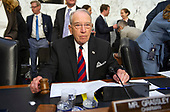 United States Senator Chuck Grassley (Republican of Iowa), chairman, US Senate Judiciary Committee, calls the committee to order as it hears Judge Brett Kavanaugh testify on his nomination to be Associate Justice of the US Supreme Court to replace the retiring Justice Anthony Kennedy on Capitol Hill in Washington, DC on Tuesday, September 4, 2018.<br /> Credit: Ron Sachs / CNP<br /> (RESTRICTION: NO New York or New Jersey Newspapers or newspapers within a 75 mile radius of New York City)