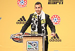 13 January 2011: Columbus Crew selected Justin Meram with the #15 overall pick. The 2011 MLS SuperDraft was held in the Ballroom at Baltimore Convention Center in Baltimore, MD during the NSCAA Annual Convention.