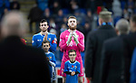 St Johnstone v Hamilton Accies&hellip;10.11.18&hellip;   McDiarmid Park    SPFL<br />Joe Shaughnessy and Zander Clark applaud the veterans onto the pitch as a mark of respect for Remembrance Day<br />Picture by Graeme Hart. <br />Copyright Perthshire Picture Agency<br />Tel: 01738 623350  Mobile: 07990 594431