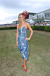 Former Miss World Rosanna Davidson pictured at killarney Races on thursday when she judged the Queen of Fashion competition.<br /> Picture  by Don MacMonagle