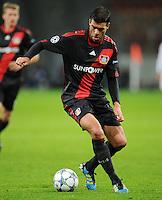 FUSSBALL   CHAMPIONS LEAGUE   SAISON 2011/2012  Bayer 04 Leverkusen - FC Valencia           19.10.2011 Michael BALLCK  (Bayer 04 Leverkusen) Einzelaktion am Ball